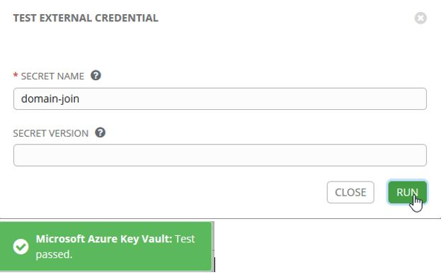 Ansible Tower Key Vault Credentials